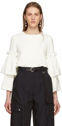 Edit Off White Tiered Sleeve Swing Blouse
