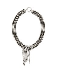 Isabel Marant Wild Shore Crystal Embellished Chain Necklace Silver