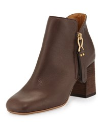 See By Chloe Jamie Side Zip Ankle Boot Dark Brown