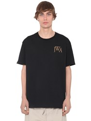 J.W.Anderson Embroidered Logo Cotton Jersey T Shirt Black