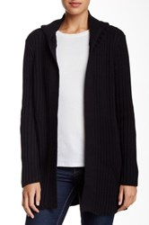 525 America Hooded Knit Cardigan Black
