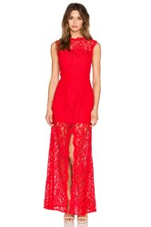 Jarlo Lace Gown Red