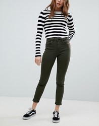 Bershka High Waist Mom Jean Green