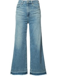 Ag Jeans Flared Cropped Blue