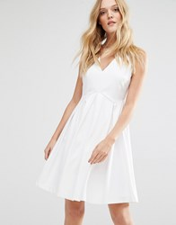 Y.A.S Unia Dress With Pleat Skirt Bright White