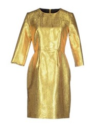 Les Prairies De Paris Short Dresses Gold