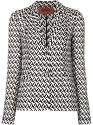 Missoni Chevron Pattern Blazer Black