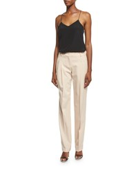 Michael Kors Mid Rise Pleated Front Pants Nude