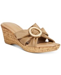 Easy Street Shoes Tuscany Conca Wedge Sandals Natural