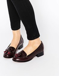 Ravel Tassle Loafers Burgundy Red
