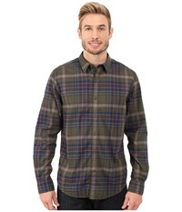 Timberland Long Sleeve Parker River Flannel Plaid Forest Night Men's Long Sleeve Button Up Green