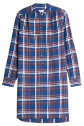 Closed Flannel Check Dress Blue