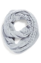 Junior Women's Bp. Pointelle Infinity Scarf Blue Pale Blue