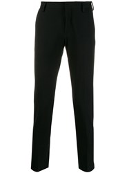 Entre Amis Slim Fit Tailored Trousers Black