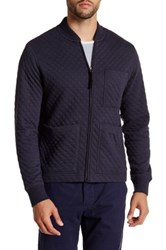 Billy Reid Ethan Quilted Jacket Blue