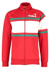 Diadora Tracksuit Top Red Italy Optical White