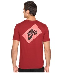 Nike Sb Box T Shirt Team Red Team Red Black Men's T Shirt