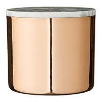 Bloomingville Deco Jar With Marble Lid Copper Wide