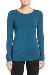 Halogen Long Sleeve Modal Blend Tee Petite Blue