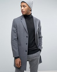 Kiomi Wool Overcoat Dark Grey Melange