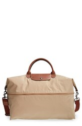 Longchamp 'Le Pliage' Expandable Travel Bag Beige 21 Inch