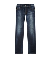 Diesel Skinny Faded Jeans Male Blue