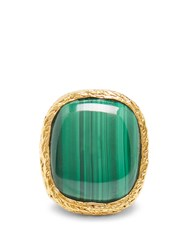 Aurelie Bidermann Miki Malachite And Gold Plated Ring Green Gold