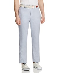 Tailorbyrd Classic Fit Linen Pants Light Blue