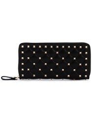 Valentino Garavani Rockstud Spike Wallet Women Leather Metal One Size Black