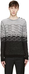 Carven Black And White Striped Sweater