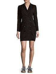 The Kooples Double Breasted Button Front Sheath Dress Black