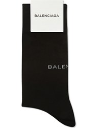 Balenciaga Wool Socks Black White