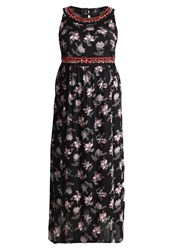Evans Floral Maxi Dress Multi Dark Multicoloured