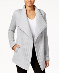 Rachel Roy Quilted Asymmetrical Jacket Only At Macy's Heather Grey