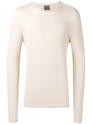 Laneus Knitted Fitted Top Men Cotton 48 Nude Neutrals