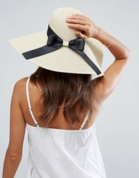 Asos Floppy Straw Hat Beige