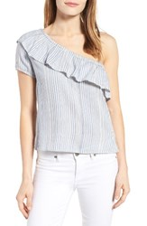 Rd Style Women's One Shoulder Ruffle Blouse
