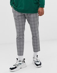 Mennace Casual Trousers In Check Grey