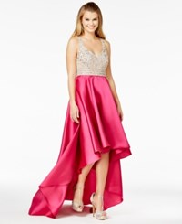 Say Yes To The Prom Juniors' Embellished High Low Gown A Macy's Exclusive Nude Pink