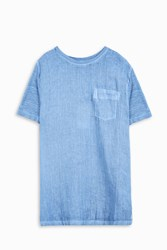 120 Lino Men S Crew Neck Pocket T Shirt Boutique1 Blue