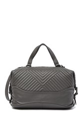 Vince Camuto Tave Quilted Leather Satchel Bag Power Grey