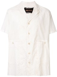Uma Wang Short Sleeve Fitted Shirt White