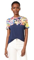 Jason Wu Printed T Shirt Navy Multi