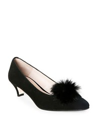 Patricia Green Cara Faux Fur Suede Pumps Black