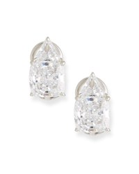 Fantasia Trillion And Cushion Cubic Zirconia Earrings