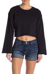 Current Elliott The Acture Knit Cropped Pullover Sweater Cavair W Destro