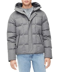 Ugg Cadin Hip Length Puffer Parka Coat Gray