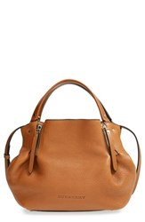 Burberry 'Small Maidstone' Leather Satchel Brown Saddle Brown