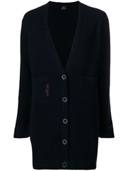 Paul Smith Ps By Ribbed Knit Cardigan Black