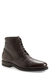Aquatalia By Marvin K 'Carter' Cap Toe Boot Men Brown Leather